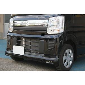 J-NEXT スズキ エブリィ ワゴン(DA17W)用 フロントスポイラー LED付 無塗装 SUZUKI 軽バン 軽バンカスタム|welcstore