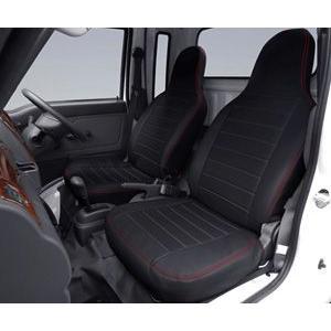 J-NEXT ダイハツ ハイゼット ジャンボ(200系/500系)共通 シートカバー ブラック/ブラウン DAIHATSU HIJET|welcstore|02