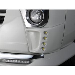 J-NEXT ダイハツ ハイゼット/ハイゼットジャンボ(S500P/S510P)用 バンパーコーナーフォグカバー(LED付) DAIHATSU HIJET 軽トラック 軽トラカスタム|welcstore
