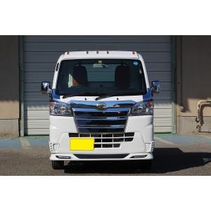 J-NEXT ダイハツ ハイゼット/ハイゼットジャンボ (S500P/S510P)用 フロントスポイラー(LED付) 塗装済 DAIHATSU HIJET 軽トラック 軽トラカスタム|welcstore