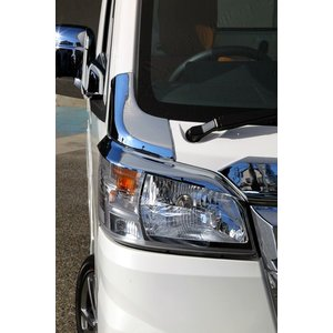 J-NEXT ダイハツ ハイゼット/ハイゼット ジャンボ(S500P/S510P)用 ヘッドライト・アイライン ライトガーニッシュ DAIHATSU HIJET 軽トラック 軽トラカスタム|welcstore|02