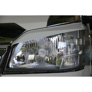 J-NEXT カラードライン ダイハツ ハイゼット/ジャンボ(S500P/S510P)用 ヘッドライト・アイライン 純正色塗装済 ライトガーニッシュ DAIHATSU HIJET 軽トラック|welcstore