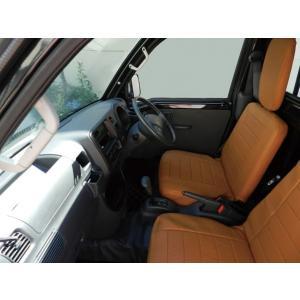 J-NEXT ダイハツ ハイゼット(S500P/S510P)用 シートカバー ブラック/ブラウン DAIHATSU HIJET 軽トラック 軽トラカスタム|welcstore