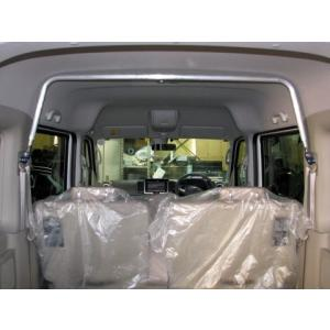 スズキ エブリィ ワゴン(DA17V・W)用 リアピラールーフバー SZ0770-PIE-00 ハイルーフ車用 SUZUKI 軽バン 軽バンカスタム|welcstore