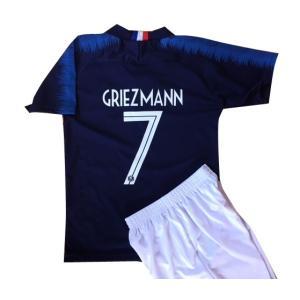 グリーズマン#7 フランス代表(ホーム)18/19 子供用上下セット
