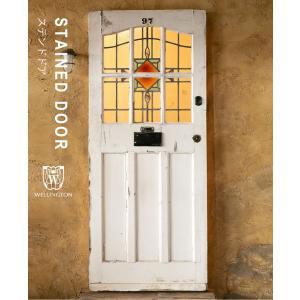 ドア ガラスドア ステンドドア ステンドグラス アンティーク イギリス フランス ビンテージ レトロ エレガント クラシック ヨーロッパ ウェリントン wd-3947|wellington