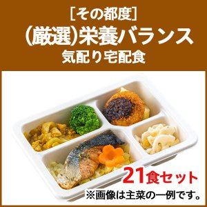冷凍弁当/(厳選)栄養バランス気配り宅配食/21食セット|wellness-dining