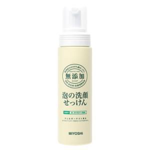ミヨシ 無添加 泡の洗顔せっけん 本体 (200mL) 洗顔フォーム|wellness-web