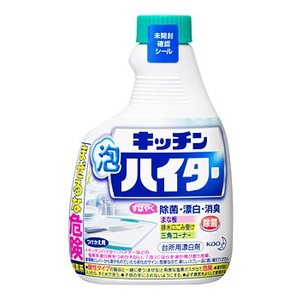 花王 キッチン泡ハイター ハンディスプレー つけかえ用 (400mL) 塩素系台所用漂白剤