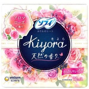 ユニチャーム ソフィ きよら Kiyora フレグランス やさしいローズ (72コ入) パンティライナー wellness-web