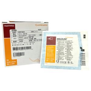 【◇】 スミス・アンド・ネフュー MELOLIN メロリン 非固着性ドレッシング 【5cm×5cm】 (25枚入)|wellness-web