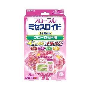 白元アース フローラル ミセスロイド クローゼット用 1年間有効 フローラルブーケの香り (3個入) 防虫剤|wellness-web