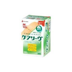 ニチバン ケアリーヴ 素肌タイプ Mサイズ CL100M (100枚) 絆創膏|wellness-web