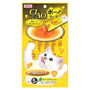 いなばペットフード CIAO チャオ ボーノスープ かつおだし (17g×5本)