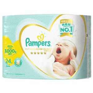 P&G パンパース はじめての肌へのいちばん テープ 新生児用 小さめサイズ 男女共用 (2...