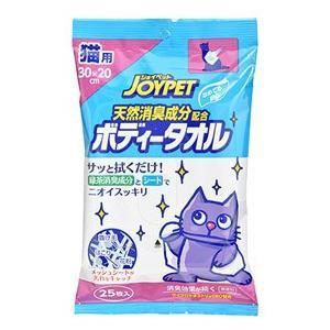 アースペット ジョイペット 天然消臭成分配合 ボディータオル 猫用 (25枚) ペット用タオル|wellness-web