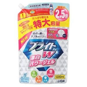 ライオン ブライトW つめかえ用 特大 (1200mL) 詰め替え用 液体 衣類用酸素系漂白剤|wellness-web