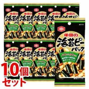 《セット販売》 亀田製菓 海苔ピーパック (42g)×10個セット 米菓 ※軽減税率対象商品|wellness-web