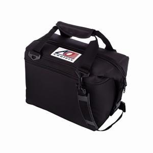 6パックキャンバスソフトクーラー AOCoolers-ブラック|west-shop