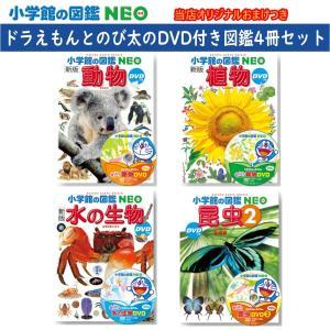 小学館の図鑑NEO DVDつき 動物・植物・水の生物・昆虫2 4冊セット おまけ付き