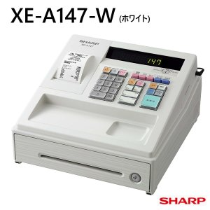 電子レジスター XE-A147-W ホワイト シャープ 軽減税率対応