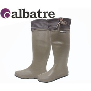 ALBATREアルバートル  AL-R1000 BROWN  パッカブルラバーブーツ レインブーツ