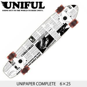 UNIFULユニフル UNIPAPER MINI UPMC コンプリート 6×25 スケートボード ミニクルーザー|westcoast