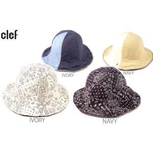 リバーシブルハット 帽子   CLEF/クレ  品名/REV. PAISLEY TULIP PNL  品番/RB3559 |westcoast