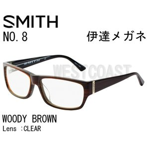SMITHスミス NO8 WOODY BROWN CLEAR 203750010 伊達メガネ|westcoast