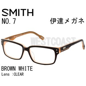 SMITHスミス NO7 BROWN WHITE CLEAR 204390002 伊達メガネ|westcoast
