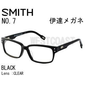 SMITHスミス NO7 BLACK CLEAR 204390001 伊達メガネ|westcoast