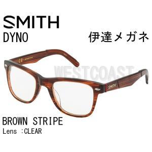 SMITHスミス DYNO BROWN STRIPE CLEAR 207001013 伊達メガネ|westcoast