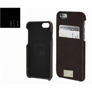 HEXヘックス  SOLO WALLET For iPhone6 Plus  HX1836  BROWN WOVEN LETHER 送料無料|westcoast