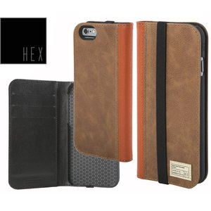 HEXヘックス ICON WALLET For iPhone6・iPhone6s HX1750 BROWN LETHER 送料無料|westcoast