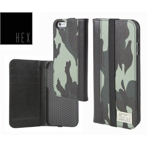 HEXヘックス ICON WALLET For iPhone6・iPhone6s HX1750 MARINE CAMO LETHER 送料無料あすつく|westcoast