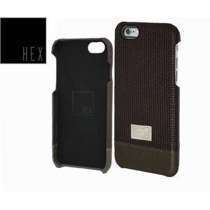 HEXヘックス FOCUS CASE For iPhone6 HX1752 BROWN WOVEN LETHER 送料無料|westcoast