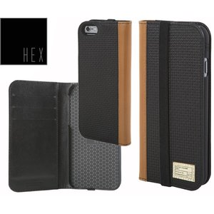 HEXヘックス ICON WALLET For iPhone6 Plus・iPhone6s Plus HX1835 BLACK WOVEN LEATHER 送料無料|westcoast