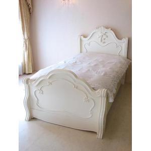 白いロココ調の輸入家具です。 曲線的なフォルムがエレガントな大人の可愛らしさを演出してくれます。 お...