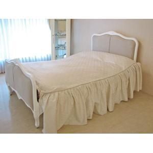 輸入 オーダー家具 フレンチスタイルベッド クィーンサイズ ホワイト色