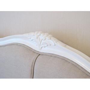 ●New!●輸入 オーダー家具 フレンチスタイルベッド クィーンサイズ ホワイト色 westhousegallery 03