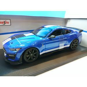 マイスト 1/18 2020 フォード マスタング シェルビー GT500 ブルー/ホワイトストライプ 00945 westpoint