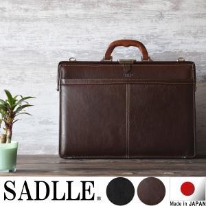 SADDLE サドル 日本製 本革 メンズ ダレスバッグ ドクターバッグ A4ファイルサイズ   素...