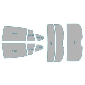 カーフィルム カット済み シルフィード 断熱スモーク スバル XV 【GP7型】 年式 H28.5-H29.4 車検対応 業務用 スモークフィルム ウインドウ フィルム|westwave3013