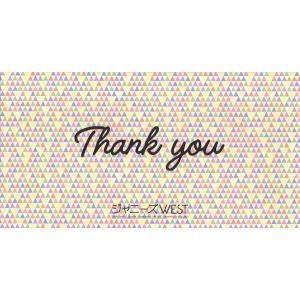 ジャニーズWEST ファンクラブ会報 Thank you メッセージカード [ 公式グッズ ](中古ランクA)|wetnodsedog