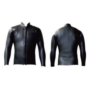 STANDARD/SS : all 2mm フロントファスナー付き 長袖ジャケット|wetsuitsstore