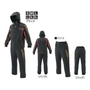 がまかつ ゴアテックス(R) レインスーツ GM-3631  ブラック|wf-ichida