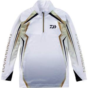 (展示品処分)ダイワ トーナメント ドライシャツ DE-77008T ホワイト |wf-ichida