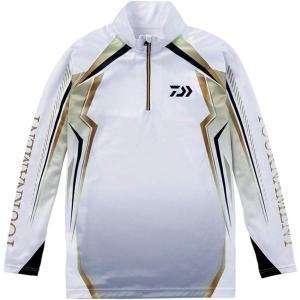 (在庫処分)ダイワ トーナメント ドライシャツ DE-77008T ホワイト  サイズ2XL(3L)|wf-ichida
