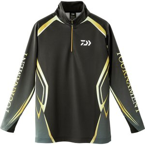 (限定特価)ダイワ トーナメント ブレスマジック ハーフジップシャツ DE-31009T サイズL|wf-ichida
