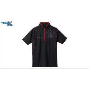 (限定特価)サンライン TERAX COOL DRYシャツ SUW−5571CW(半袖) ブラック|wf-ichida